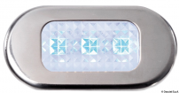 Luce di cortesia Inox 3 LED blu IP55